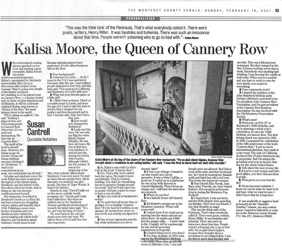 Herald on Queen of Cannery Row